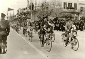 Παρέλαση τμήματος Προσκόπων με ποδήλατα